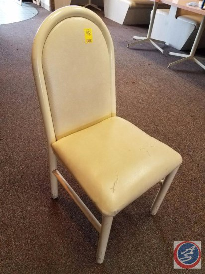[7] White Upholstered Chairs {SOLD 7x THE MONEY}