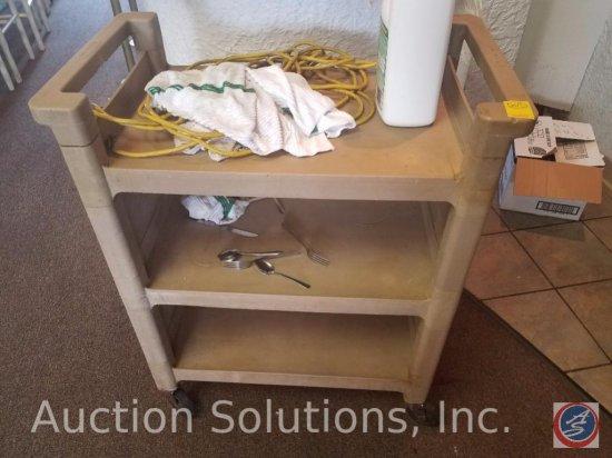 3-Shelf Plastic Utility Cart