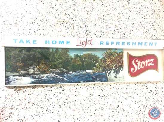 """Storz Lighted Beer Sign - 50 1/2"""" X 14"""""""