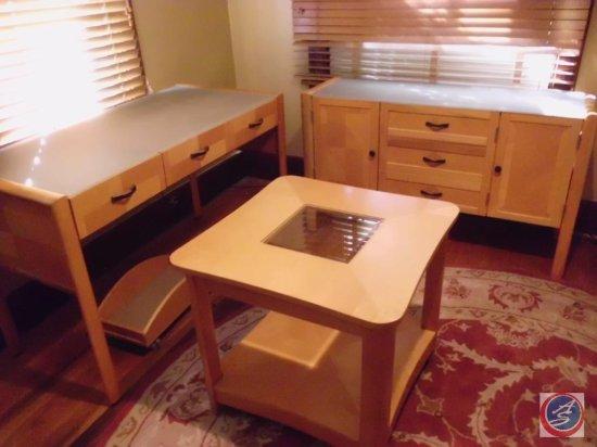 Set of 4 Natural Desk Set