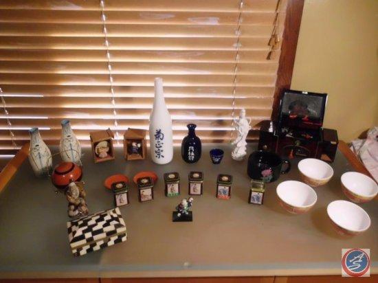 Oriental Tea Sets, Coaster Set, and Jewelry Box