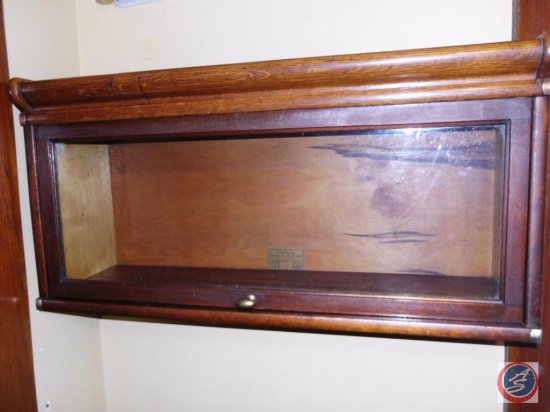 Antique Glass Front Barrister Bookcase