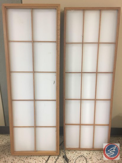 "(2) Lighted Florescent Boxes 17"" X 50"" (One Pane is Cracked)"