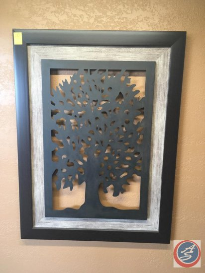 Metal hanging wall picture and mirror