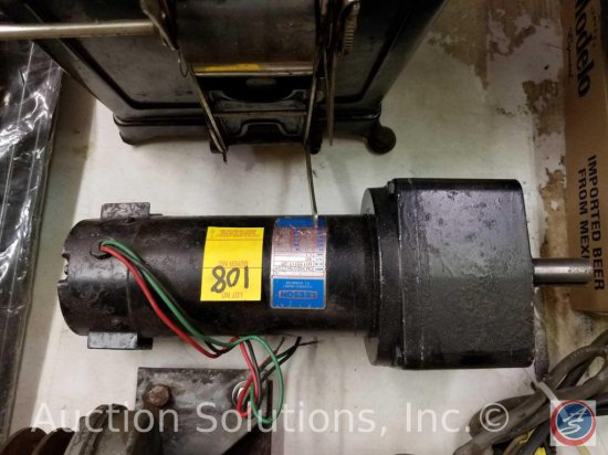 Leeson Permanent Magnet DC Gear Motor 1/4 HP Model #CM34D25NZ52A
