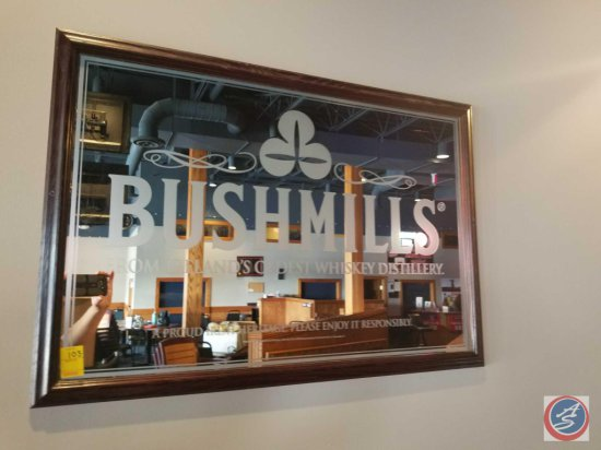 Bushmills Whiskey mirror wall sign