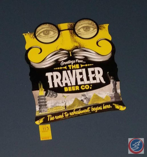 Traveler Beer Co. metal sign