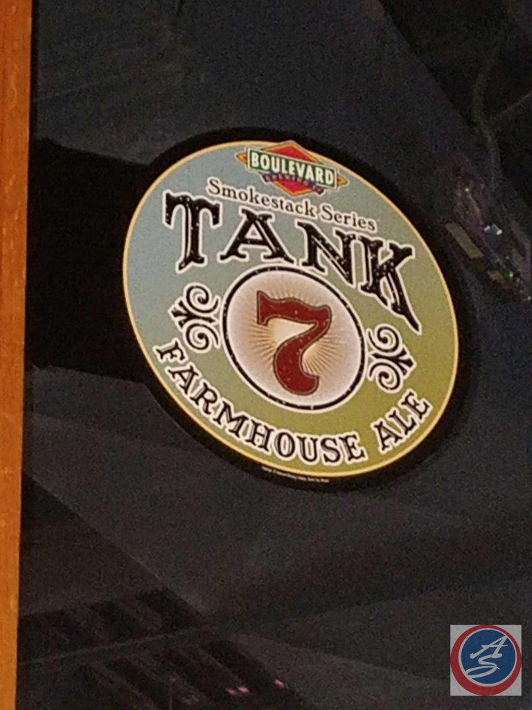 Boulevard Tank 7 extend from wall sign