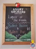 Angry Orchard chalk board