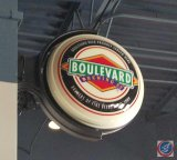 Boulevard Brewing Co. rotating sign (working- need ladder to remove)