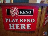 (2) Big Red Keno plastic signs