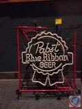 Neon Pabst Blue Ribbon Beer sign (broken/not working)