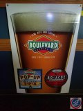 Boulevard Brewing Co. plastic cardboard sign (32 X 47)