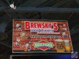 Brewsky's plastic cardboard sign (32 X 47)- need ladder to remove