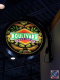 Boulevard Brewing Co. light up wall sign (working- need ladder to remove)
