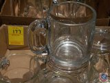 Flat of (12) Irish cream mugs with handles