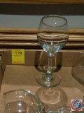 (8) white wine glasses