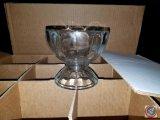 (15) glass pedestal sundae dishes