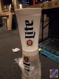 (3) sleeves of 25 plastic Miller Lite cups, one is opened and missing one.