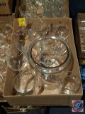 Assortment of glass stemware and glasses, flat contains (11)
