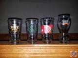 (2) Boulevard Amber Ale pint glasses (2) Boulder Beer pint glasses, (3) Sam Adams Rebel IPA glasses,