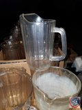 (2) boxes containing (7) large 60 oz. pitchers marked