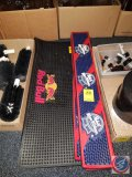Rubber Red Bull non slip mat for bar top, and (4) Pabst rubber drink mats made for bar
