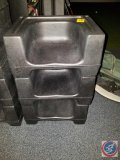 (3) booster seats, black