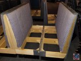 (5) sets of booth seats-pink/missing seat cushions (SOLD 5 TIMES THE MONEY)