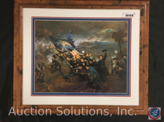 Framed Civil War Battle Field Picture No. 36 - 27.5 x 23.5''