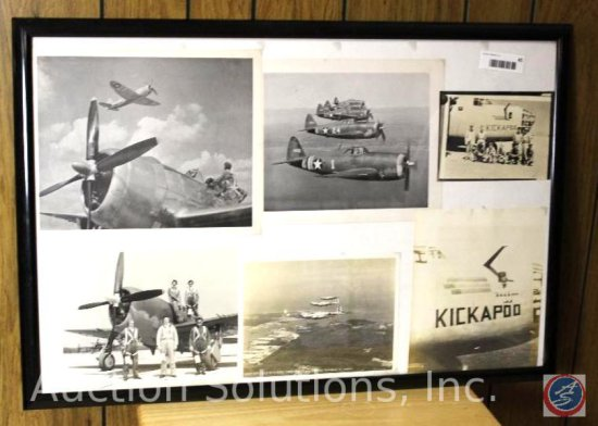 WWII US Army and Air Force Planes, Framed - 31 x 21''