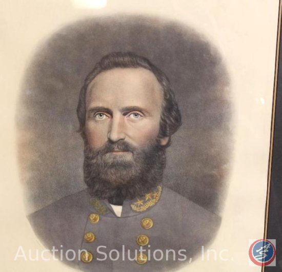 Stonewall Jackson Signed and Framed Photo - 33.5 x 29''