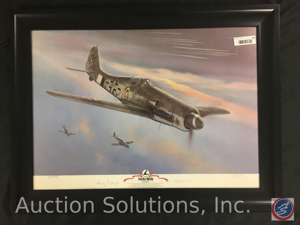 Limited Edition Framed Print, 'Focke-Wulf', Signed by J. Crandall No. 353 of 950 - 32.25 x 24.75''