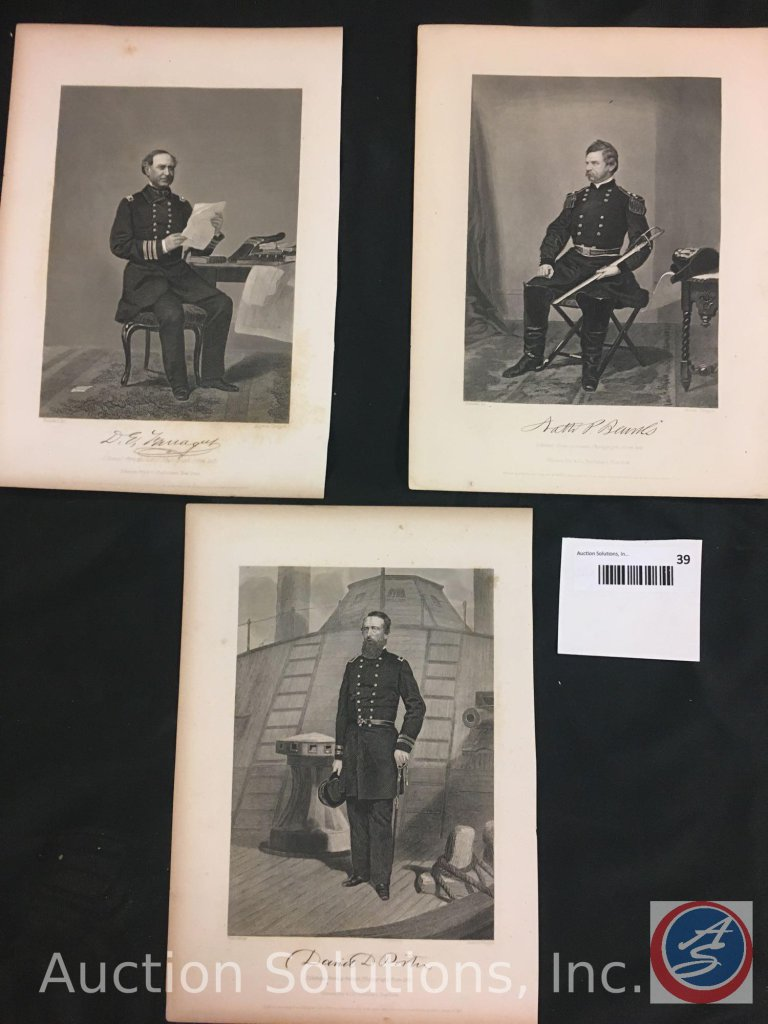 [3] Single Civil War Officer Photos - 11 x 8''