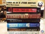 [6] Hard Bound Books w/ Dust Jackets - In Mortal Combat Korea 1950-1953; The Bomber War; The Viking