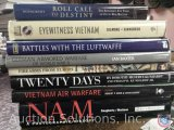 [8] History Books - NAM A Photographic History, Vietnam Air Warfare, Twenty Days, Firearms From
