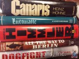 [5] Military Genre Hardback Books; Canaris, Luftwaffe, Himmler, Dogfight, All the Way to Berlin