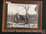 Civil War Cannon, Framed Print from Old Century Editions, titled 'Six Pounder Wiard Gun in