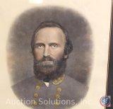 Stonewall Jackson Signed and Framed Photo - 33.5 x 29''