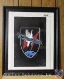 Framed WWII Messerschmitt - 23.5 x 19.5''