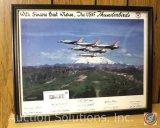 U.S. Thunderbirds, Framed and Signed - 14.75 x 11.75''