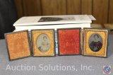 [2] Civil War Era Tin Type Photos in Decorative Hinged Holders