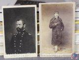 [2] Civil War Period Wallet Size Photos - Army Officer and Army General Forster