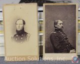 [2] Civil War Period Wallet Size Photos - Sr. Officer and Army General Smith