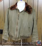 Original WWII B10 Jacket - Two Inside/Two Outside Snap Pockets, Knitted Sleeves (Repaired), Moulton