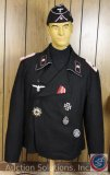 Officer's SS Panzer Wrap Hat, Jacket and Medals [Reproduction]