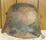 Original WWI Camouflage Steel Helmet w/ No Liner
