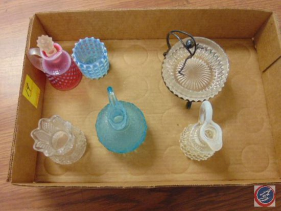 (6) assorted decorative glass pieces
