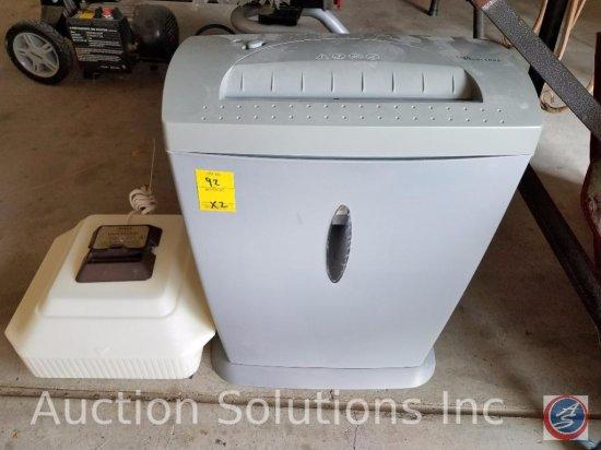 Tech Solutions paper shredder, and a Sunbeam vaporizer