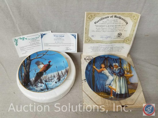 """Danbury Mint collector plate """"Winter Solitude"""" #G9481 with box and certificate of authenticity,"""